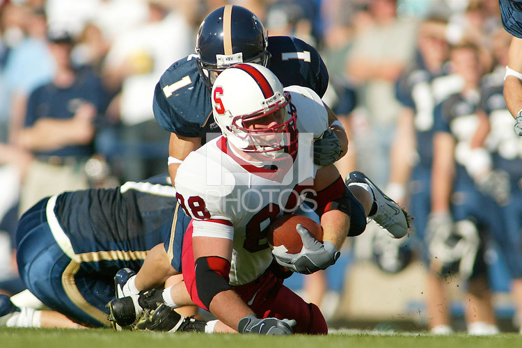 20 September 2003: Action during Stanford's game vs. BYU in Provo, UT.