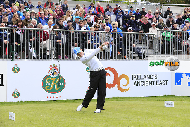 Danny Willett (ENG) tees off the 1st tee during Wednesday's Pro-Am of the 2016 Dubai Duty Free Irish Open hosted by Rory Foundation held at the K Club, Straffan, Co.Kildare, Ireland. 18th May 2016.<br /> Picture: Eoin Clarke | Golffile<br /> <br /> <br /> All photos usage must carry mandatory copyright credit (&copy; Golffile | Eoin Clarke)