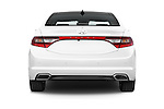 Straight rear view of a 2015 Hyundai Azera Liimited 4 Door Sedan stock images