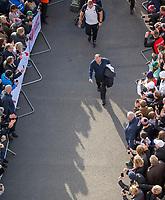England's Head Coach Eddie Jones arrives at the ground<br /> <br /> Photographer Bob Bradford/CameraSport<br /> <br /> Quilter Internationals - England v South Africa - Saturday 3rd November 2018 - Twickenham Stadium - London<br /> <br /> World Copyright &copy; 2018 CameraSport. All rights reserved. 43 Linden Ave. Countesthorpe. Leicester. England. LE8 5PG - Tel: +44 (0) 116 277 4147 - admin@camerasport.com - www.camerasport.com