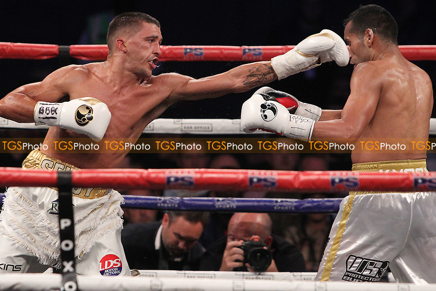 Lee Selby vs Jonathan Victor Barros during a Boxing Show at the SSE Arena, Wembley on 15th July 2017