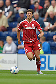 09/08/2015 Sky Bet League Championship Preston North End v Middlesbrough <br /> George Friend, Middlesbrough FC