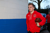 George Glendon  of Fleetwood Town during the Sky Bet League 1 match between Rochdale and Fleetwood Town at Spotland Stadium, Rochdale, England on 20 March 2018. Photo by Thomas Gadd.