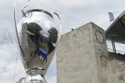 06.06.2015. Olympiastadion, Berlin, Germany. The European Champions Tropy on display Prior to the UEFA Champions League final match between Juventus FC and FC Barcelona