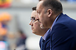 San Pablo Burgos coach Diego Epifanio and assistant coach Alberto Codeso during Liga Endesa match between Real Madrid and Unicaja Malaga at Coliseum Burgos in Burgos , Spain. January 27, 2018. (ALTERPHOTOS/Borja B.Hojas)