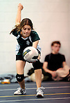 8 November 2009: Vermont Commons School Girls participate in the 2009 High School Volleyball State Championships hosted by Vermont Commons School at the Sports and Fitness Edge in South Burlington, Vermont. The Enosburg Falls Hornets successfully defended their boys' title while the VCS Flying Turtles rallied to maintain their girls' team crown. Mandatory Credit: Ed Wolfstein Photo