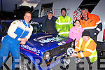 Farranfore driver Cyril Wharton gets the spot lights fitted on his Ford Escort Mk2 for the final stage of the Historic rally in Killarney on Saturday l-r: Cyril Wharton, Anthony Kelleher, Benny O'Shea both Listry, Emma O'Sullivan, Joe O'Sullivan both Beaufort and Patie Russell Listry