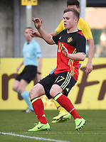 20170323 - BEVEREN , BELGIUM : Belgian Lennerd Daneels pictured during the UEFA Under 19 Elite round game between Sweden U19 and Belgium U19, on the first matchday in group 7 of the Uefa Under 19 elite round in Belgium , thursday 23 th March 2017 . PHOTO SPORTPIX.BE | DIRK VUYLSTEKE