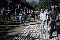fans awaiting the riders up the infamous Muro di Sormano (avg 17%/max 25%)<br /> <br /> Il Lombardia 2017<br /> Bergamo to Como (ITA) 247km