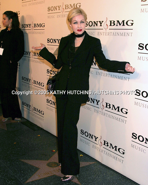 CYNDI LAUPER.SONY & BMG MUSIC GRAMMY PARTY 2005.ROOSEVELT HOTEL.HOLLYWOOD, CA.FEBRUARY 13 , 2005.©2005 KATHY HUTCHINS /HUTCHINS PHOTO.