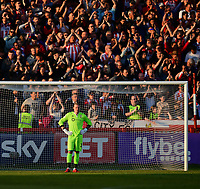 Lincoln City's Ryan Allsop after Exeter City's Jayden Stockley scored the opening goal<br /> <br /> Photographer Chris Vaughan/CameraSport<br /> <br /> The EFL Sky Bet League Two Play Off Second Leg - Exeter City v Lincoln City - Thursday 17th May 2018 - St James Park - Exeter<br /> <br /> World Copyright &copy; 2018 CameraSport. All rights reserved. 43 Linden Ave. Countesthorpe. Leicester. England. LE8 5PG - Tel: +44 (0) 116 277 4147 - admin@camerasport.com - www.camerasport.com