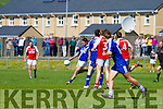 St Marys Bryan Sheehan in shooting form as he notches up another point for the home side in the 2nd round clash of the Intermediate Championship with Waterville in the Con Keating Park Cahersiveen on Sunday.  St Marys 2-13 Waterville 1-9.