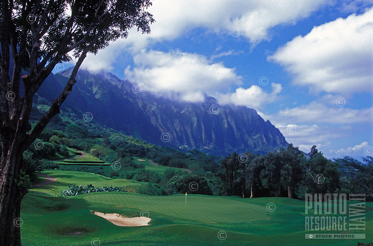 Koolau Golf Course, one of the most challenging and most scenic courses in America