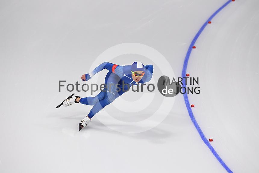 OLYMPIC GAMES: PYEONGCHANG: 19-02-2018, Gangneung Oval, Long Track, 500m Men, Cha Min Kyu (KOR), ©photo Martin de Jong