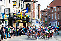 Picture by Alex Whitehead/SWpix.com - 03/05/2018 - Cycling - 2018 Asda Women's Tour de Yorkshire - Stage 1: Beverley to Doncaster - The peloton travel through Howden.