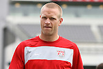 28 May 2010: Jay DeMerit. The United States Men's National Team held a practice session at Lincoln Financial Field in Philadelphia, Pennsylvania the day before playing Turkey in their final home friendly prior to the 2010 FIFA World Cup in South Africa.