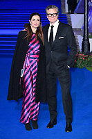 "Livia and Colin Firth<br /> arriving for the ""Mary Poppins Returns"" premiere at the Royal Albert Hall, London<br /> <br /> ©Ash Knotek  D3467  12/12/2018"