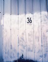 Number 36 on aluminum
