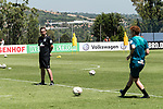 09.01.2019, Trainingsgelaende Randburg Football Club, Johannesburg, RSA, TL Werder Bremen Johannesburg Tag 07<br /> <br /> im Bild / picture shows <br /> <br /> Joshua Sargent (Werder Bremen #19)<br /> <br /> Feature Training mit Banner Sponsoren<br /> <br /> Foto © nordphoto / Kokenge