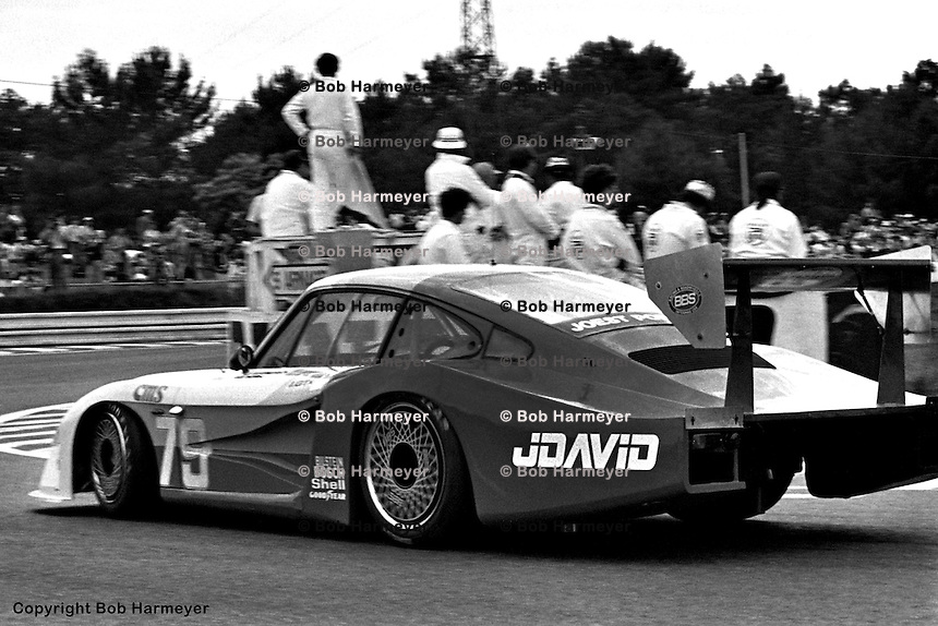 LE MANS, FRANCE: John Fitzpatrick and David Hobbs drove Fitzpatrick's Porsche 935/78-81 JR-002 to a class victory in the IMSA GTX category, and a 4th place overall finish behind the factory Porsche 956s, in the 24 Hours of Le Mans on June 20, 1982, at Circuit de la Sarthe in Le Mans, France.