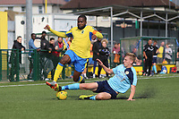 Club captain David Tosin  Olufemi of Haringey during Haringey Borough vs Stanway Rovers, Emirates FA Cup Football at Coles Park Stadium on 25th August 2018