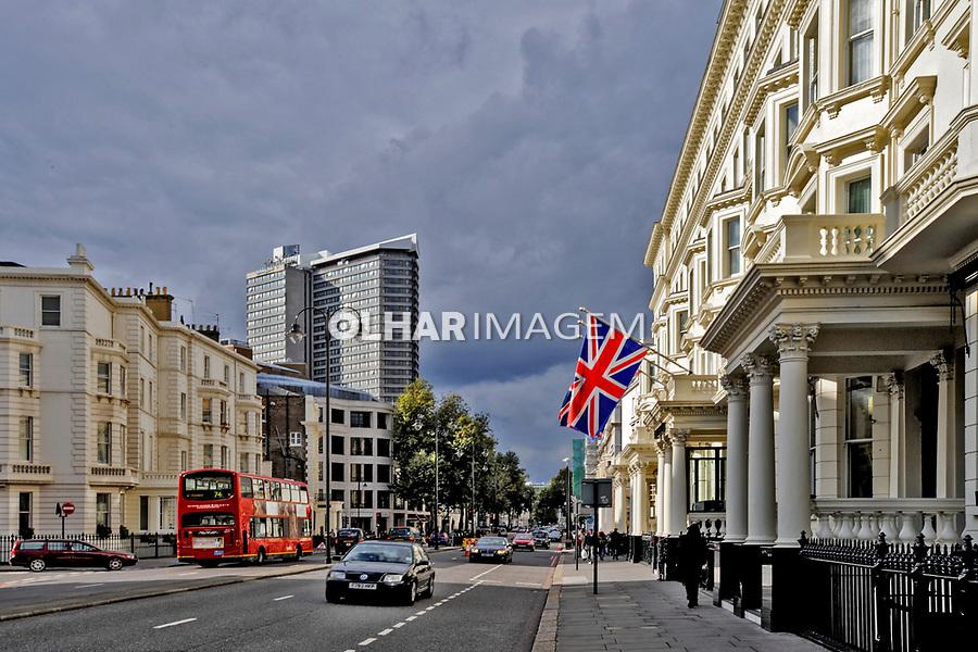 Predios e rua , cidade de Londres, Inglaterra. 2008. Foto Juca Martins