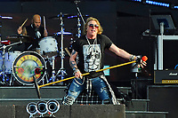 DERBY, ENGLAND - JUNE 9: Axl Rose of 'Guns N' Roses' performing at Download Festival, Donington Park on June 9, 2018 in Derby<br /> CAP/MAR<br /> &copy;MAR/Capital Pictures