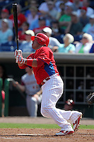 Philadelphia Phillies Carlos Ruiz #51 during a scrimmage vs the Florida State Seminoles  at Bright House Field in Clearwater, Florida;  February 24, 2011.  Philadelphia defeated Florida State 8-0.  Photo By Mike Janes/Four Seam Images