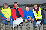 WALK/RUN: At the Tralee Rotary Club fundraising run for the Tralee Rowing Club at the Wetlands,Tralee on Sunday. L-r: Des Farrell (Chairman Tralee rowing club) Denis Hamafin (president Tralee Rotary Club), DJ Hanafin, Mary Boner (head coach Tralee Rowing Club)...