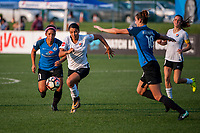 Kansas City, MO - Sunday September 3, 2017: Desiree Scott, Samantha Kerr during a regular season National Women's Soccer League (NWSL) match between FC Kansas City and Sky Blue FC at Children's Mercy Victory Field.