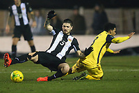 Nathan Livings of Hornchurch and Kreshnic Krasniqi of Heybridge during Heybridge Swifts vs AFC Hornchurch, Bostik League Division 1 North Football at Scraley Road on 9th January 2018