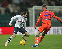 Preston North End's Ben Pearson in action with Millwall's Aiden O'Brien<br /> <br /> Photographer Mick Walker/CameraSport<br /> <br /> The EFL Sky Bet Championship -  Preston North End v Millwall - Saturday 15th December 2018 - Deepdale-Preston<br /> <br /> World Copyright &copy; 2018 CameraSport. All rights reserved. 43 Linden Ave. Countesthorpe. Leicester. England. LE8 5PG - Tel: +44 (0) 116 277 4147 - admin@camerasport.com - www.camerasport.com