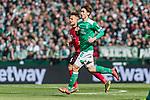 13.04.2019, Weserstadion, Bremen, GER, 1.FBL, Werder Bremen vs SC Freiburg<br /> <br /> DFL REGULATIONS PROHIBIT ANY USE OF PHOTOGRAPHS AS IMAGE SEQUENCES AND/OR QUASI-VIDEO.<br /> <br /> im Bild / picture shows<br /> Yuya Osako (Werder Bremen #08), Amir Abrashi (SC Freiburg #6), <br /> <br /> Foto © nordphoto / Ewert