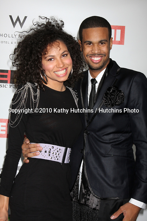 Jurnee Smollett & Josiah Bell.arriving at the EMI Post Grammy Party 2010.W Hotel Hollwood.Los Angeles, CA.January 31, 2010.©2010 Kathy Hutchins / Hutchins Photo....