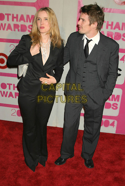 JULIE DELPY  AND ETHAN HAWKE.The 14th Annual Gotham Awards, Pier 60, Chelsea Piers, New York City, New York, USA.01December 2004..full length suit.Ref: IW.www.capitalpictures.com.sales@capitalpictures.com.©Capital Pictures.