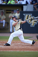 UCF Knights Logan Heiser (23) at bat during a game against the Siena Saints on February 21, 2016 at Jay Bergman Field in Orlando, Florida.  UCF defeated Siena 11-2.  (Mike Janes/Four Seam Images)