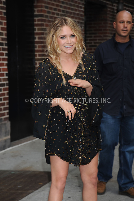 WWW.ACEPIXS.COM . . . . . ....June 26 2008, New York City....Mary-Kate Olsen made an appearance at the 'Late Show with David Letterman' at the Ed Sullivan Theatre on June 26 2008 in New York City....Please byline: KRISTIN CALLAHAN - ACEPIXS.COM.. . . . . . ..Ace Pictures, Inc:  ..(646) 769 0430..e-mail: info@acepixs.com..web: http://www.acepixs.com