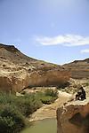 Israel, Negev, Ein Yorkeam in Nahal Hatira