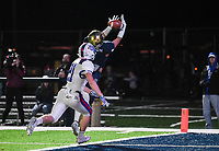 NWA Democrat-Gazette/CHARLIE KAIJO Shiloh Christian High School Micah Button (7) attempts a pass ruled incomplete short of the end zone during a Class 4A semi-final playoff football game, Saturday, December 1, 2018 at Champions Stadium at Shiloh Christian High School in Springdale.
