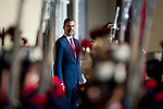 Spain's King Felipe VI and Queen Letizia recives Chile's President Michelle Bachelet during a welcoming ceremony at the Pardo Palace in Madrid on 2014/10/29. samuel de roman / Photocall3000