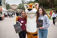 Explore Occidental - Fall Preview Day for admitted students and their families, Nov. 4, 2017. Check-in and Continental Breakfast, Thorne Hall patio<br /> Meet students, staff and members of the Occidental community.<br /> Students can sign up for a class visit during check-in. Class visits are limited to one<br /> per student and available on a first-come, first-served basis<br /> <br /> The Office of Admission hosts its Explore Occidental Fall Preview Day to give prospective students the opportunity to visit campus and learn more about Occidental. Prospective students and their families had the chance to sit-in on classes, hear from current students and faculty, tour campus, and learn about the admission and financial aid process.<br /> (Photo by Marc Campos, Occidental College Photographer)