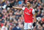 Arsenal's Pierre-Emerick Aubameyang during the Premier League match at the Emirates Stadium, London. Picture date: 7th March 2020. Picture credit should read: Paul Terry/Sportimage