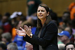 18 January 2015: Duke head coach Joanne P. McCallie. The Duke University Blue Devils hosted the University of Miami Hurricanes at Cameron Indoor Stadium in Durham, North Carolina in a 2014-15 NCAA Division I Women's Basketball game. Duke won the game 68-53.