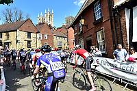 Picture by Allan McKenzie/SWpix.com - 14/05/2017 - Cycling - HSBC UK British Cycling Spring Cup Series  - Lincoln Grand Prix 2017 -<br /> Michaelgate climb peloton