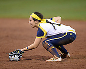 Michigan Wolverines Softball infielder Abby Ramirez (1) in the field during a game against the University of South Florida Bulls on February 8, 2014 at the USF Softball Stadium in Tampa, Florida.  Michigan defeated USF 3-2.  (Copyright Mike Janes Photography)