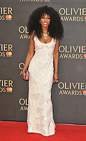 Beverley Knight at the Olivier Awards 2018, Royal Albert Hall, Kensington Gore, London, England, UK, on Sunday 08 April 2018.<br /> CAP/CAN<br /> &copy;CAN/Capital Pictures<br /> CAP/CAN<br /> &copy;CAN/Capital Pictures