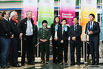 (L to R) Craig Reedie, Hitomi Obara, Kaori Icho, Saori Yoshida, Tomiaki Fukuda, Yuki Ota, MARCH 6, 2013 : London Olympics Silver medalist Yuki Ota speeachs for International Olympic Committee Vice President Craig Reedie and IOC Evaluation Commission menber at Tokyo Bigsight, Tokyo, Japan. The IOC evaluation commission, led by Reedie, began a four-day inspection of Tokyo's bid to host the 2020 Olympics. (Photo by Yusuke NakanishiAFLO SPORT)