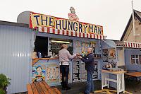 Kiosk Hungry Man an der Rozel Bay, Insel Jersey, Kanalinseln