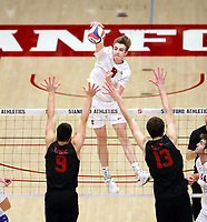 Stanford Volleyball M vs USC, February 14, 2019