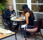 **EXCLUSIVE**<br /> Jon Voight, Angelina Jolie father, having breakfast with a Angelina look-a-like right before the Emmy Awards<br /> Four Seasons Hotel Restaurant<br /> Beverly Hills, CA, USA<br /> Sunday, September 21, 2008<br /> Photo By Celebrityvibe.com<br /> To license this image please call (212) 410 5354; or Email: celebrityvibe@gmail.com ;<br /> website: www.celebrityvibe.com